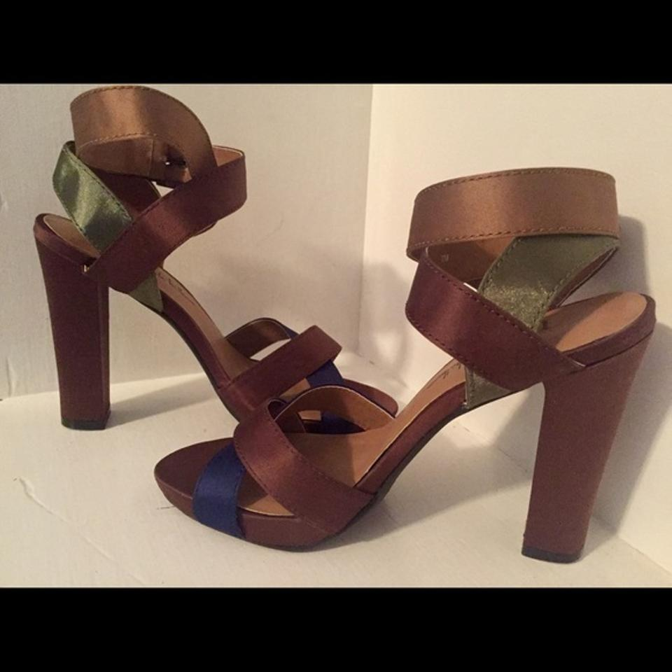 Colors Brown Green Miller Blue Sexy Nicole and Pumps Satin Block wq4Y5p5
