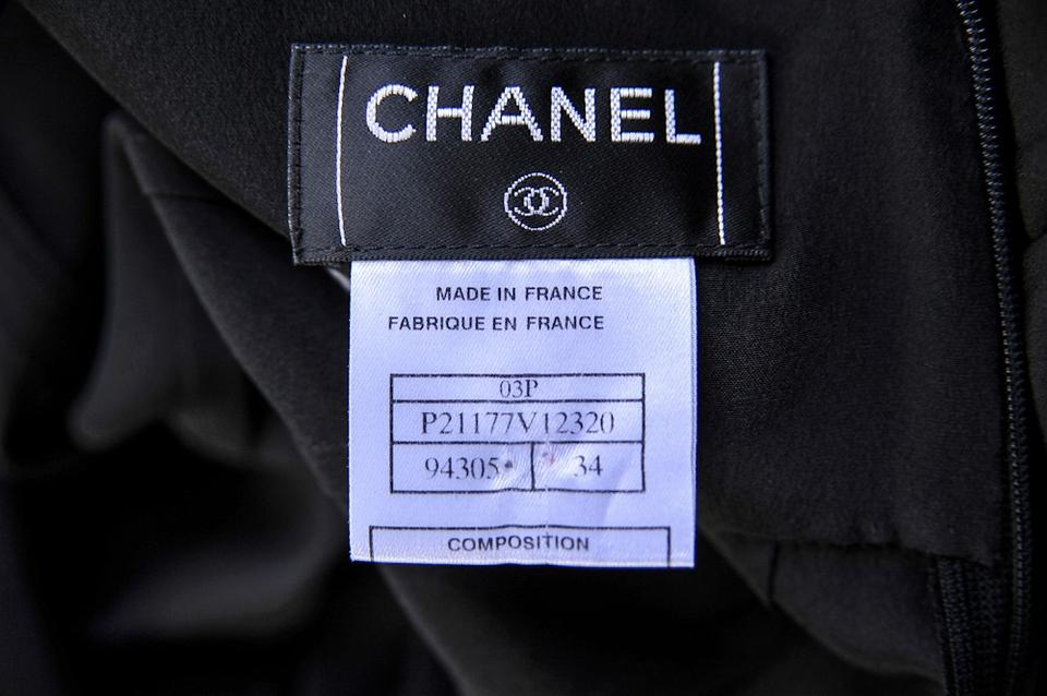 127d6033546bd1 Chanel Black SILK Sleeveless Blouse Shirt Top+Neck Sash+Skirt OUTFIT SUIT.  123456