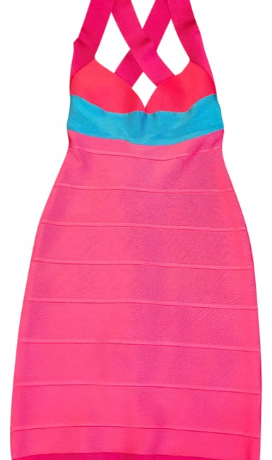 Item - Pink/ Multi Color Short Night Out Dress Size 0 (XS)