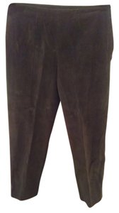 Piazza Sempione Straight Pants brown courdoroy