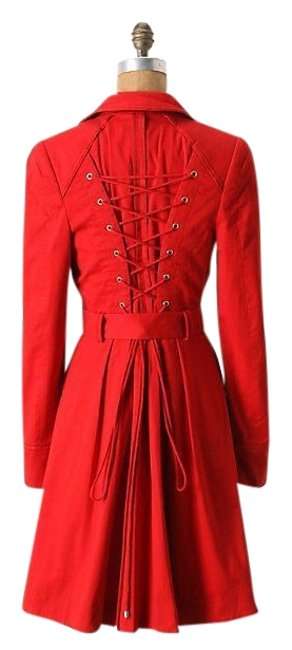 Item - Red Pansy By Elevenses Coat Size 4 (S)