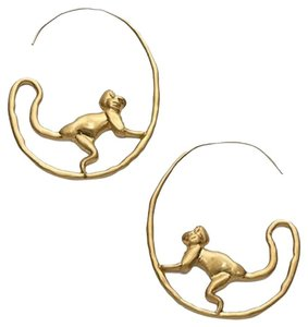 Tory Burch Tory Burch Monkey HOOP EARRINGS