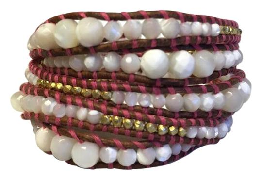 Preload https://img-static.tradesy.com/item/21401240/chan-luu-white-pink-gold-new-graduated-mother-of-pearl-nugget-leather-wrap-b-bracelet-0-1-540-540.jpg