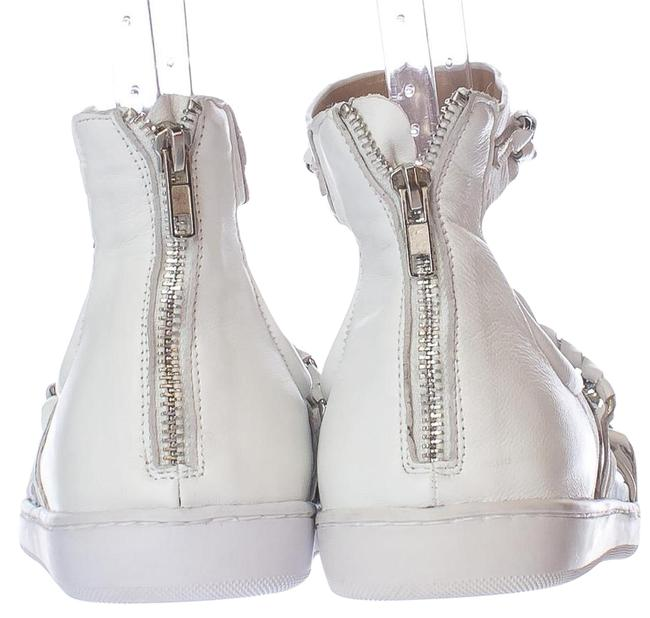 Item - White Aida Chain Strap Flat Glazed M / 38.5 Eu Sandals Size US 7.5 Regular (M, B)
