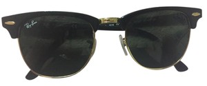 Ray-Ban Black Ray Ban CLUBMASTER - RB 3016 W0365 Black and Gold!