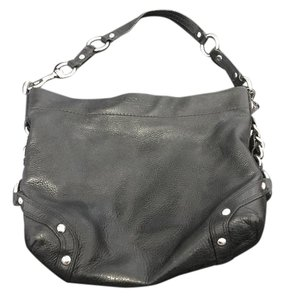 Coach Silver Hardware Leather Hobo Bag
