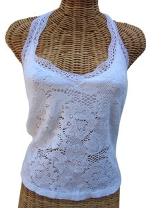 Only Hearts Lace Summer white Halter Top