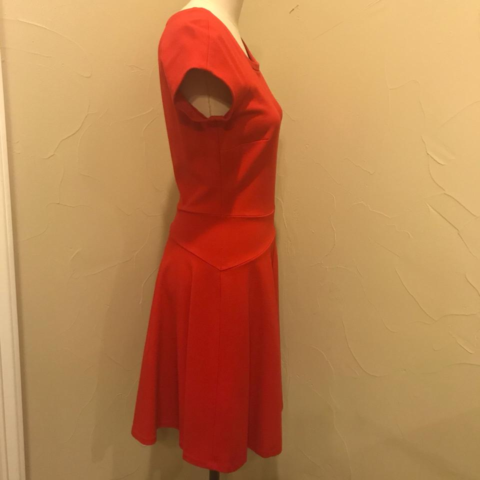 21c7967b21e Diane von Furstenberg Red Fit and Flare Mid-length Cocktail Dress Size 8  (M) - Tradesy
