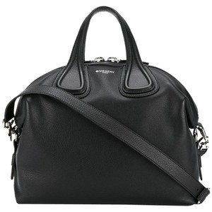 Givenchy Leather Silver Hardware Carryall Holdall Travel Tote in Black