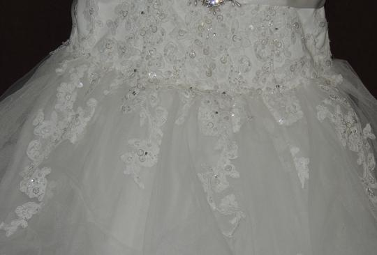 White Organza Ballgown Traditional Wedding Dress Size 4 (S) Image 5