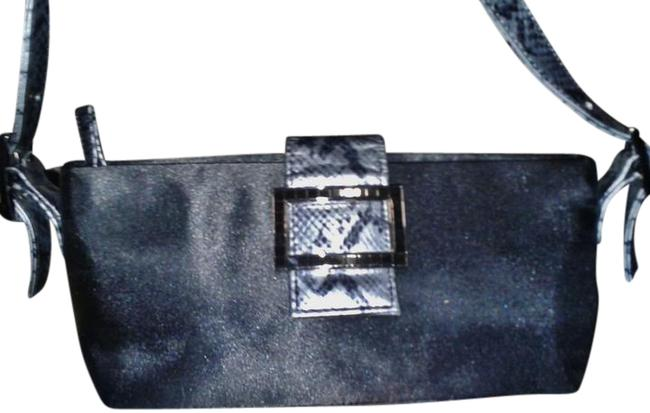 XOXO Shoulder Bag Evening Black Silk Baguette XOXO Shoulder Bag Evening Black Silk Baguette Image 1