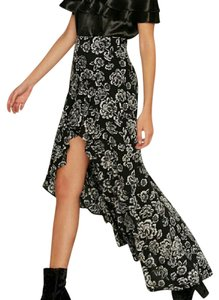 Nasty Gal Maxi Skirt Black and white