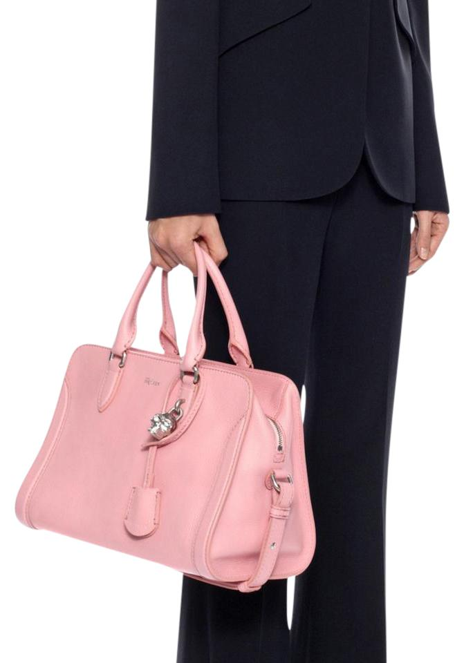 eb14818d2708 Alexander McQueen Padlock Small Crossbody Pink Calfskin Leather Tote ...