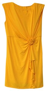 Midnight Velvet short dress Yellow on Tradesy