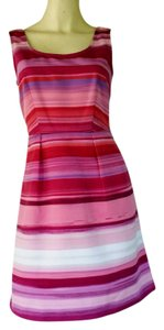 Ann Taylor LOFT short dress Pink Striped Pockets Sheath on Tradesy