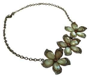 New York & Company New York & Co. Flower Crystal Statement Necklace