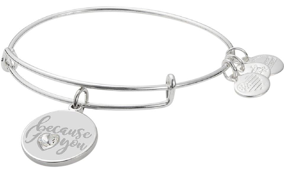 Alex And Ani Because I Love You Charm Bangle Swarovski Crystal