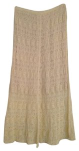 Anthropologie Lace Midi Stretchy Soft Skirt Off-white