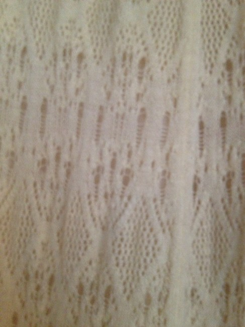 Anthropologie Lace Stretchy Soft Knitted Skirt Off-white