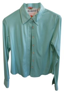 Anne Klein Button Down Shirt Turquiose