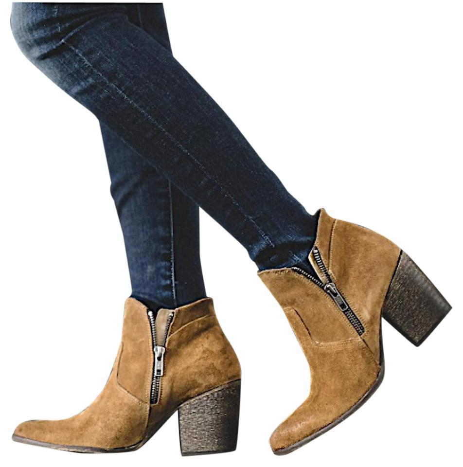 b5187cc10a1 FreeBird Brown Leather Suede Ankle Steve Madden Boots/Booties Size US 7  Regular (M, B)