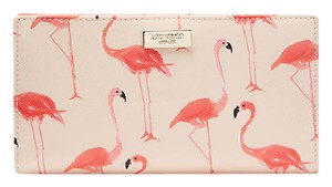 Kate Spade New Kate Spade Shore Street Stacy Leather Wallet Flamingo Print