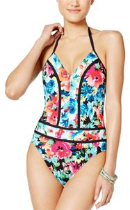 Blue Rod Beattie Bleu Rod Beattie Two of a Kind Floral-Print Plunging Swimsuit 4