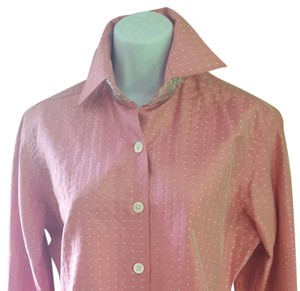 Liz Logie Button Down Shirt Pink/silver