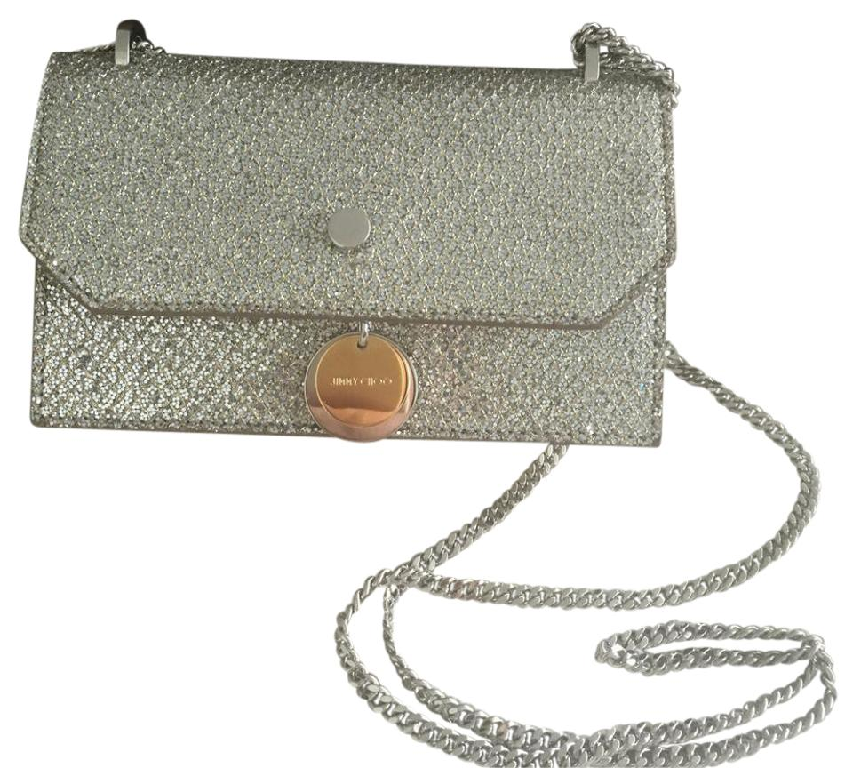 8011268a9557 Jimmy Choo Metallic Silver Mini Evening Night Out Shoulder Bag Image 0 ...