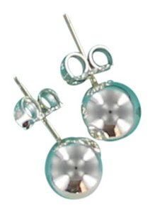 Tiffany & Co. Tiffany & Co. Sterling Silver Bead Ball 8 mm Earings with Pouch