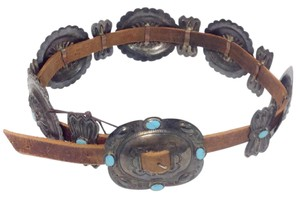 Other Vintage Turquoise / Sterling Silver Concho Belt