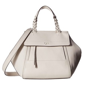 Tory Burch Half Moon Ivory White Satchel in New Ivory