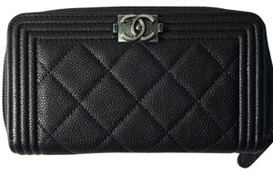 Chanel BN 2017 Chanel Boy Zipped Around Wallet with RDW
