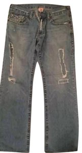 True Religion, 35/33 Relaxed Fit Jeans-Distressed