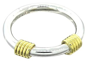 Tiffany & Co. Vintage Tiffany & Co 18k Gold & Sterling Silver Ring Band Size 7