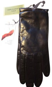Fownes Fownes black leather cashmere-lined gloves - size 7