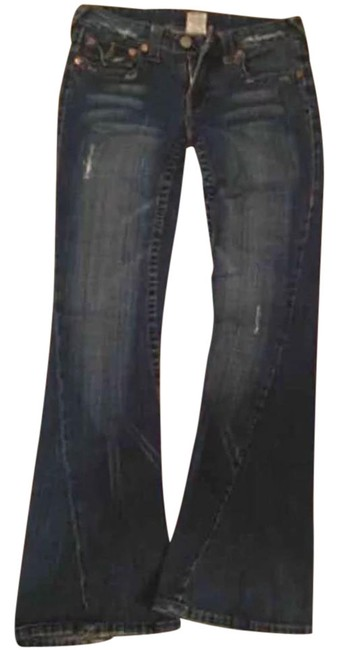 Item - Dark Rinse Whisker Distressed 32/34 Relaxed Fit Jeans Size 32 (8, M)