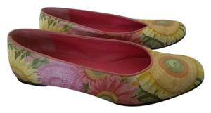 Salvatore Ferragamo Yellow green red Flats