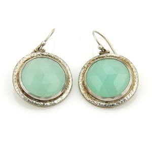 GURHAN 17826 - GUMDROP Sterling Aqua Chalcedony Drop Dangle Hook Earrings