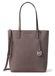Michael Kors Leather Hayley Tote in CINDER/CEMENT