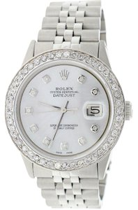 Rolex Rolex Datejust 36mm Steel Jubilee w/MOP Diamond Dial & 1.5CT Bezel