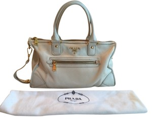 Prada Leather Satchel in Cream