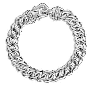 David Yurman David Yurman Buckle Single-Row Bracelet with Diamonds, 10mm