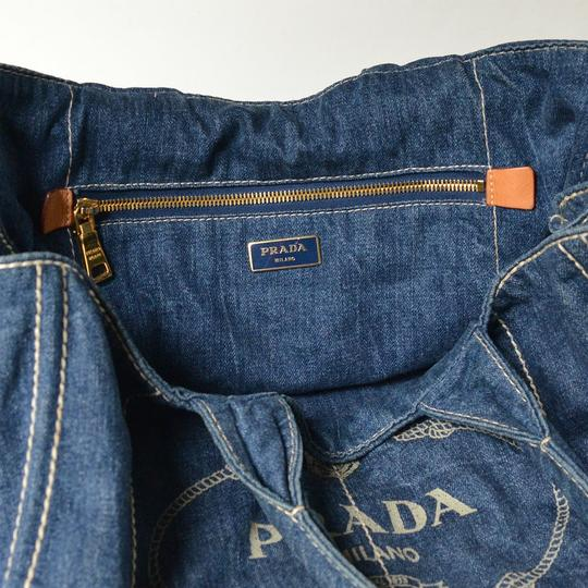 Prada Denim Canapa Denim Tote in blue