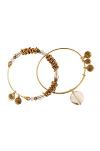 Alex and Ani Alex & Ani Set Of Two Gold Plated Beaded Expandable Wire Bangle