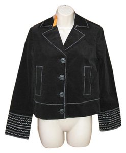 Cynthia Steffe Embroidered Corduroy Date Night Night Out Black Jacket