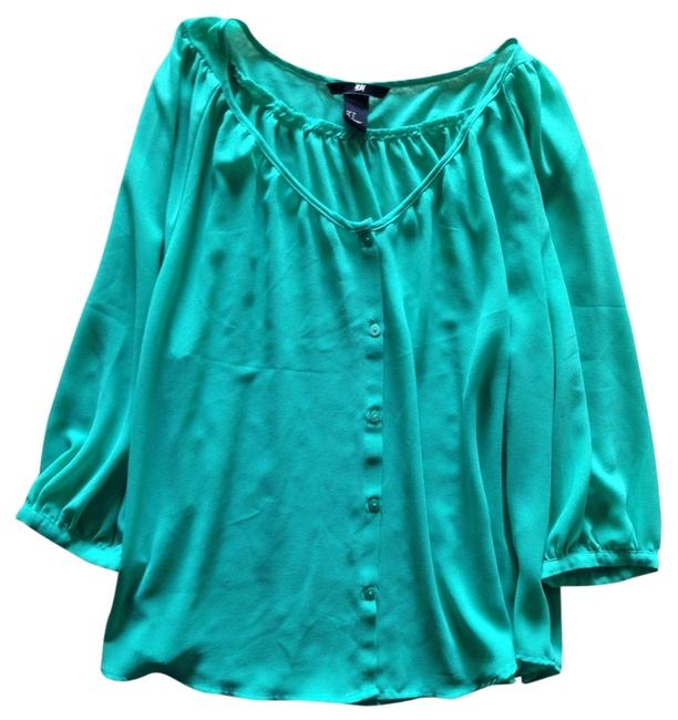 Preload https://item3.tradesy.com/images/h-and-m-top-green-emerald-2140462-0-0.jpg?width=400&height=650