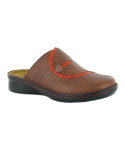 Naot Cinnamon/Orange Mules