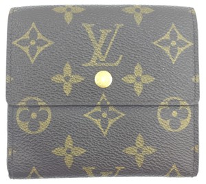 Louis Vuitton #11941 *Clearance* square Monogram Double sided Flap Wallet