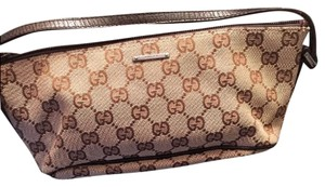 Gucci brown & tan Clutch
